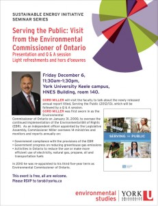 Sustainable Energy Initiative Seminar Series-Serving the Public @ Health and Nursing Building | Haldimand | Ontario | Canada