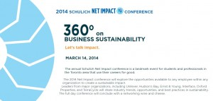 2014 Schulich Net Impact Conference @ Schulich School of Business | Toronto | Ontario | Canada