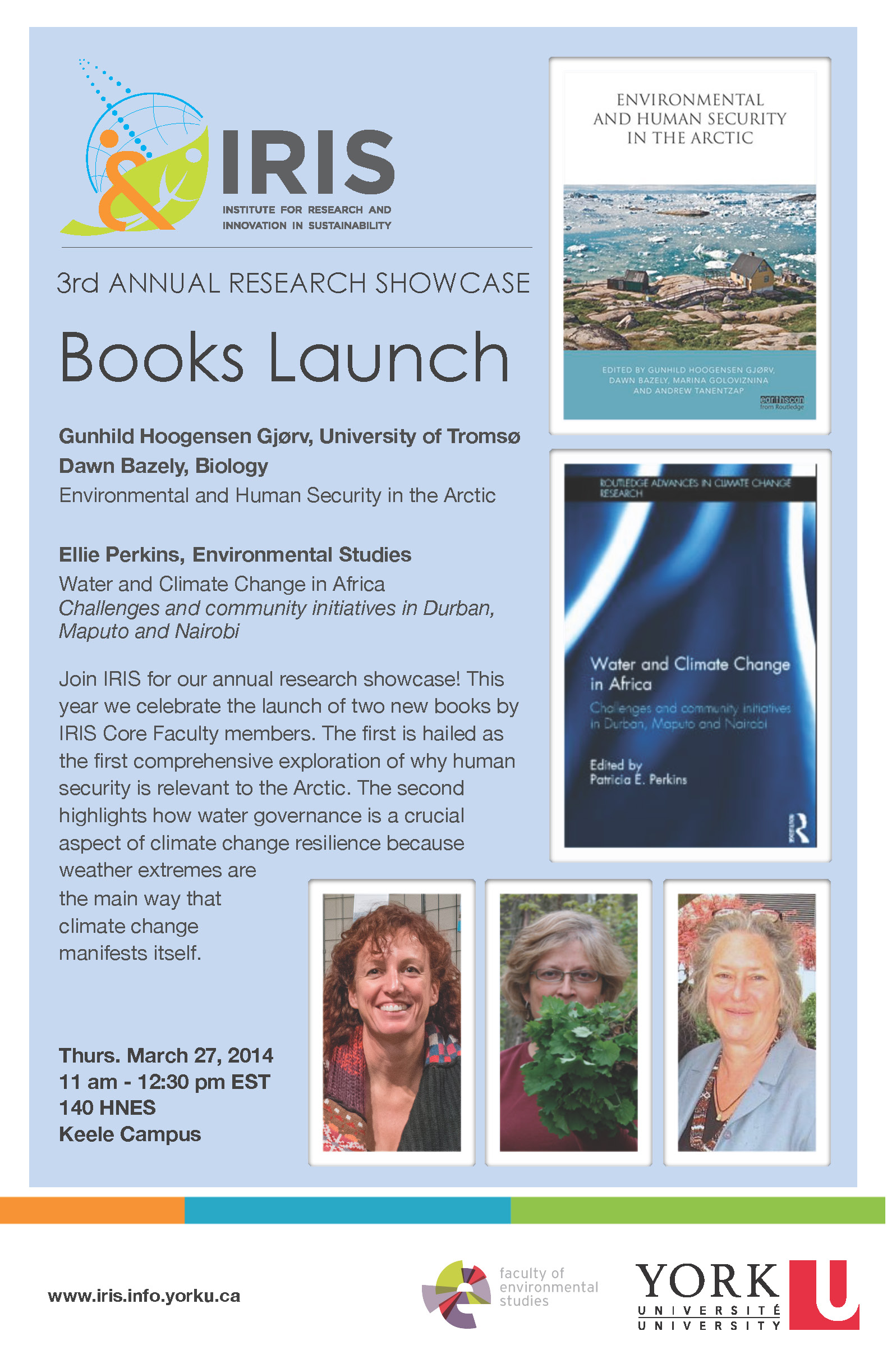 3rd Annual Research Showcase: Books Launch @ 140 HNES, York University, Keele Campus