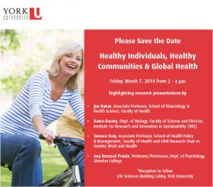 Research Event: Healthy Individuals, Healthy Communities and Global Health @ Lobby, Life Sciences Building | Toronto | Ontario | Canada